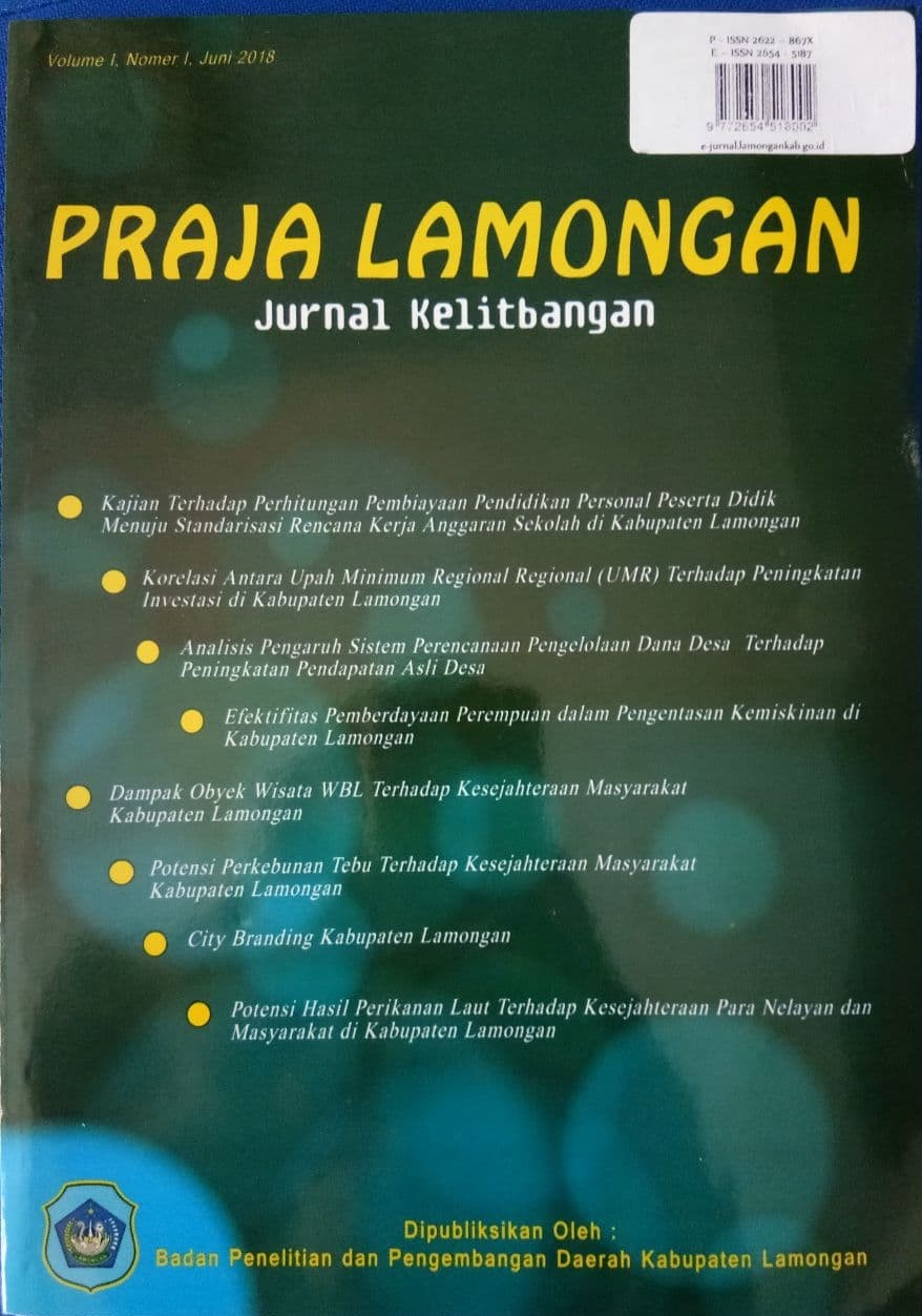 Lihat Vol 1 No 2 (2018): PRAJA LAMONGAN - JURNAL KELITBANGAN